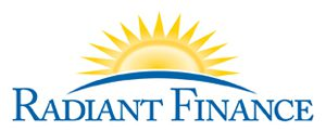 Radiant Finance logo, finance, investments, finance help, loans, lending